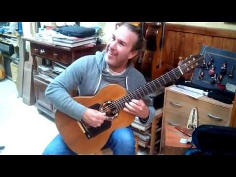 Albertus plays an old Eduardo Ferrer guitar in Granada