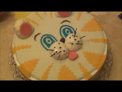 детский торт с суфле и с мастикой рецепт видео