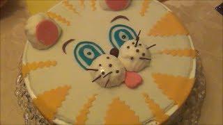Торт-суфле КОТЁНОК для детского праздника / украшения из мастики