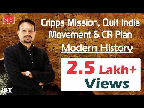 Cripps mission, Quit India Movement & CR Plan || By Dr Deepak Yadav