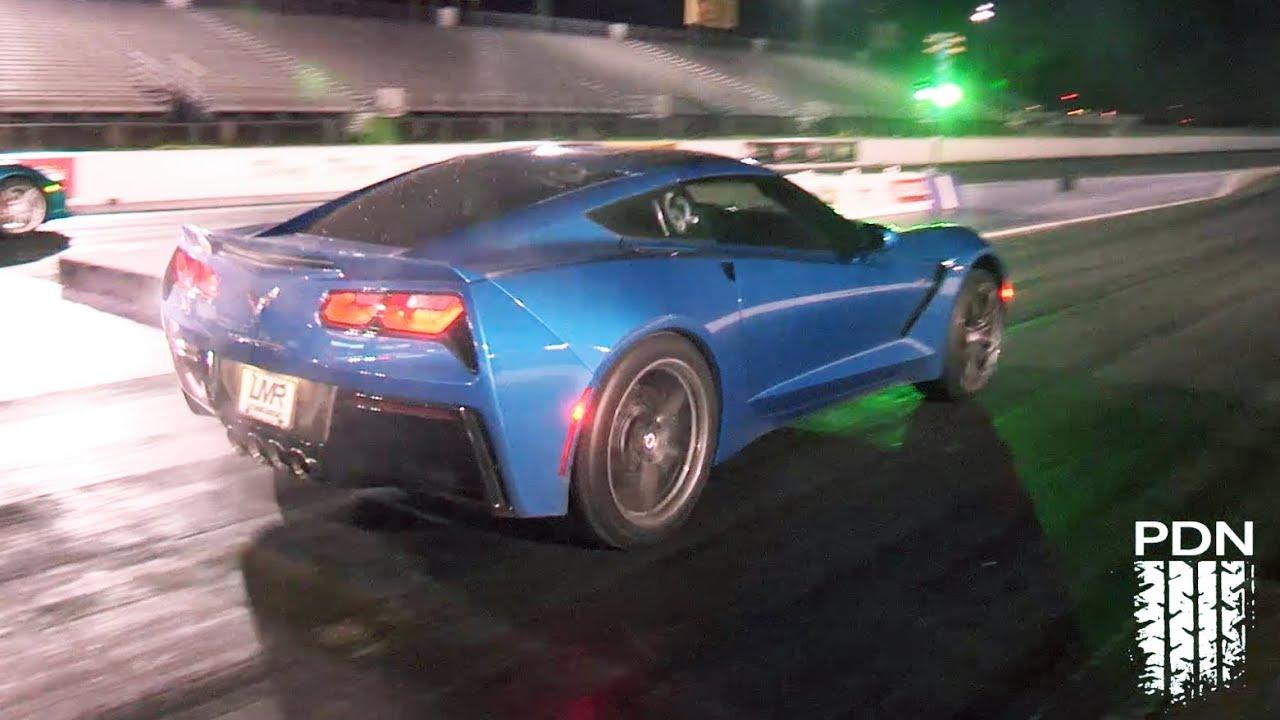 C7 Corvettes Drag Racing YouTube