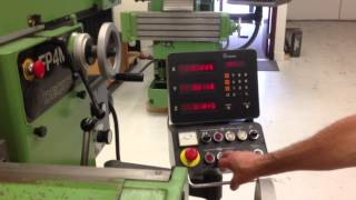 063912 dmg deckel fp4m manual conventional universal milling machine with dro