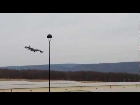 C-130 landing at University Park, 1 of 2