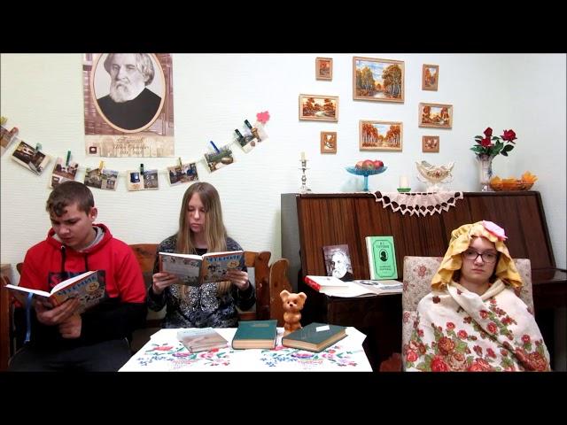 Изображение предпросмотра прочтения – «Учащиеся 8 класса» читают произведение «Отрывок из рассказа Муму» И.С.Тургенева