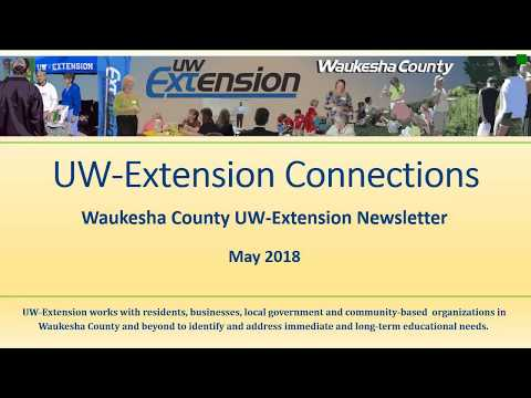 UW Extension Connections Newsletter May 2018