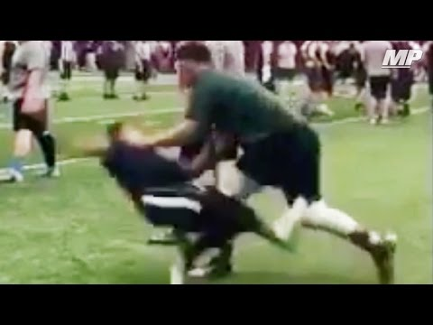 Offensive lineman is a savage