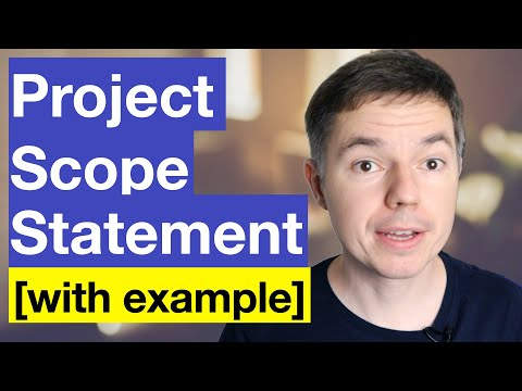 Project Scope Statement: How To Create It On Example
