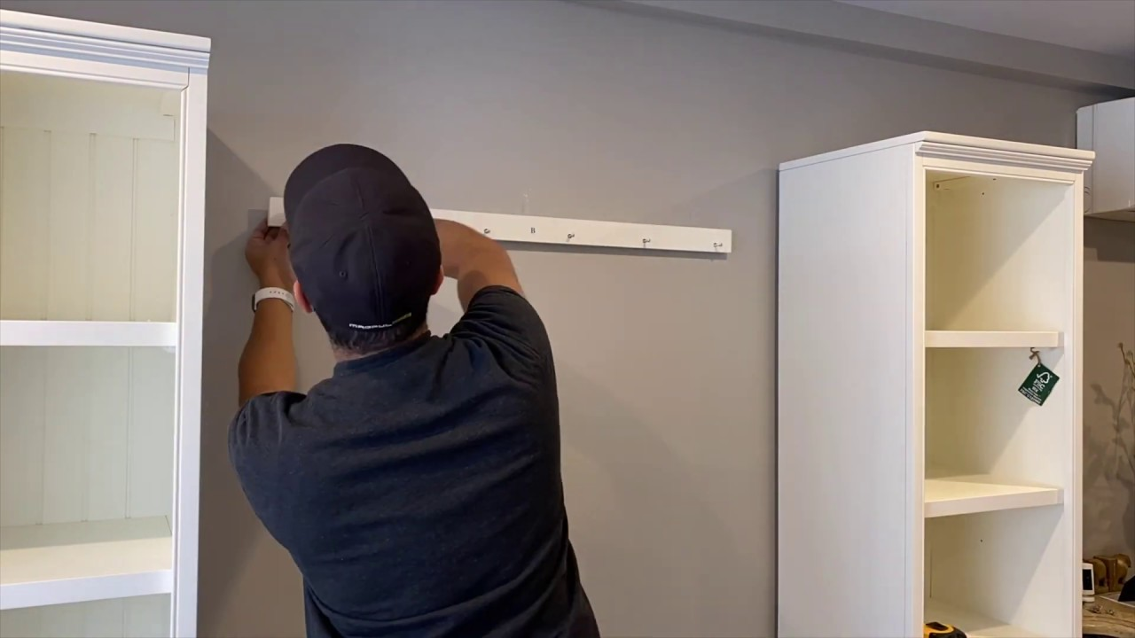How To Install The Pottery Barn Aubrey 4 Piece Entryway Set With Cabinets Youtube