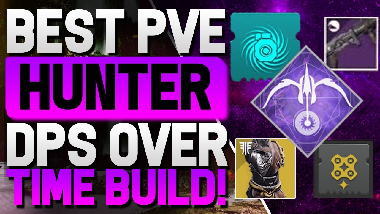 Destiny 2 - New BEST PvE Hunter Build! Insane Dps Build! (High Damage Over Time Build!)
