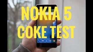 Nokia 5 coke test | coca cola test | awesome test of nokia 5