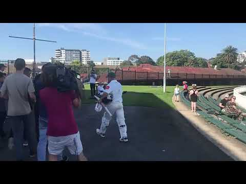 David Warner walks off field after 'sledging incident' in club game