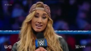 720p  WWE Smackdown Live 11 29 16 Nikki Bella attacking The Princess of Staten Island Carmella