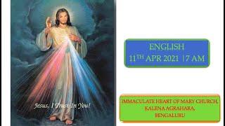 SUNDAY LIVE MASS (11 APRIL 2021) - ENGLISH - 7:00 AM