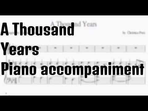 A Thousand Years Piano Accompaniment Sheet Music