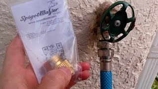 HowTo Get Rid of That Horrible BackFlow Preventer on Your Hose Spigot