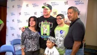John Cena and WWE bring smiles to faces with Make-A-Wish: Raw, April 28, 2014