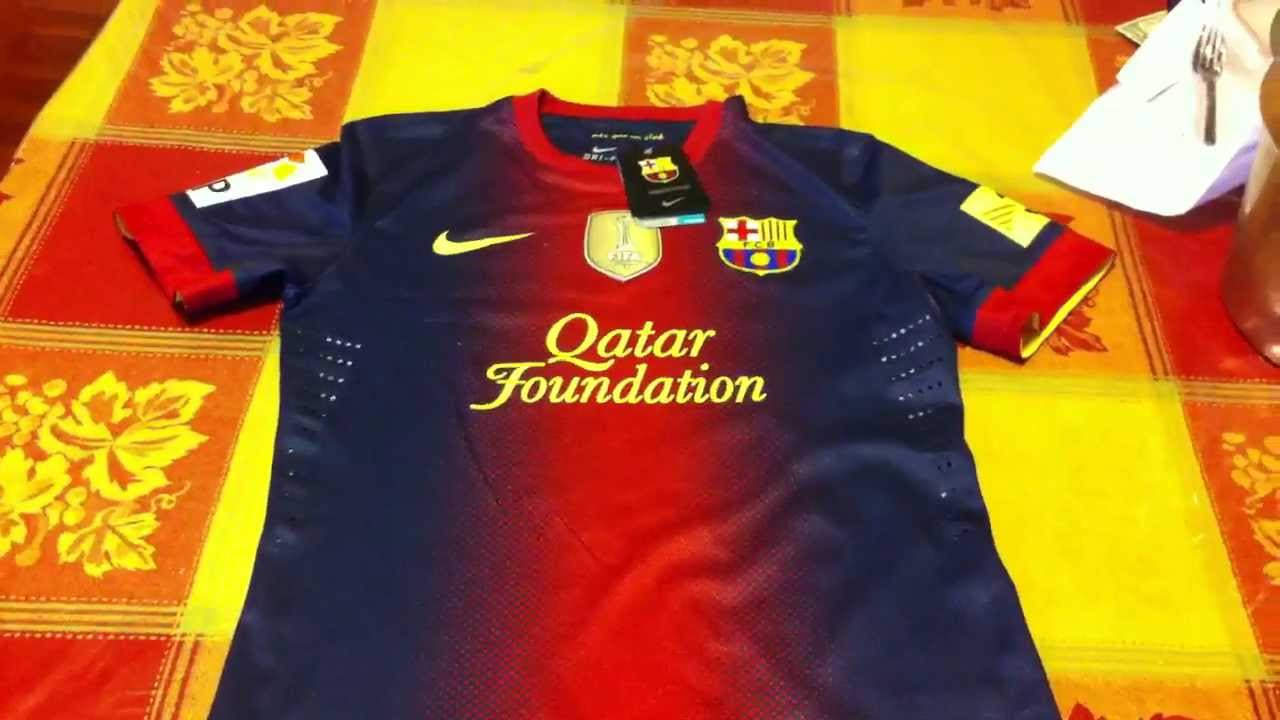 0563cf24031 FC Barcelona 2013 Authentic Jersey - YouTube