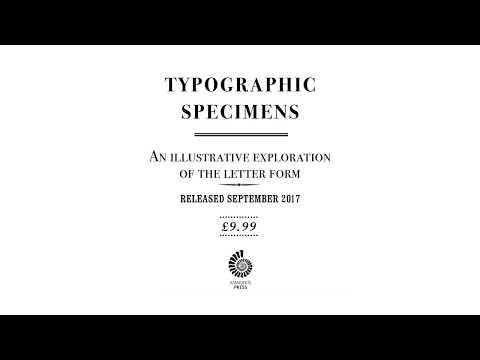 Typographical Specimens Book Teaser