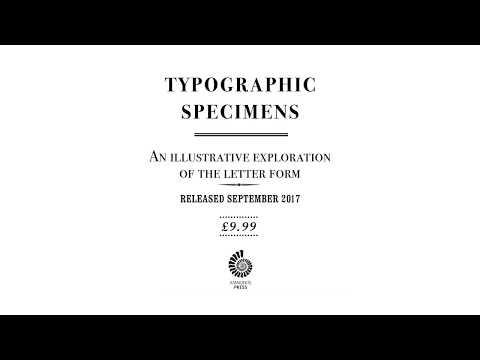 Typographical Specimens Book Teaser