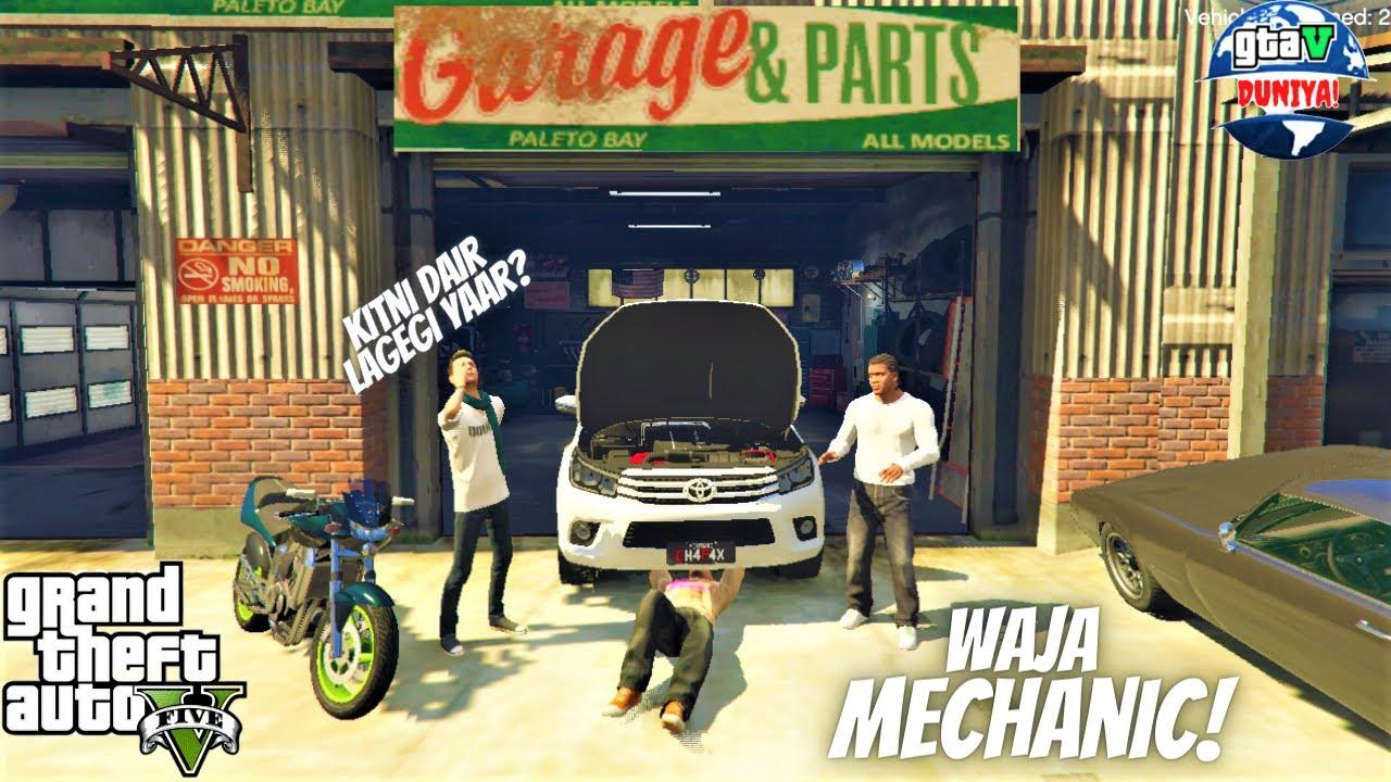 Franklin's Car Got Damaged In Gta V   WAJA Mechanic Fixed Franklin's Car   Toyota Hilux   Gta 5 2020