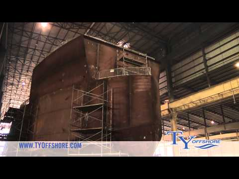 TY Offshore - Video Tour of Offshore Vessel Production Facility