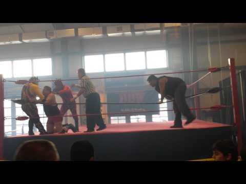 BBW Nacho Brothers vs Tx Bulls 3-23 tag match