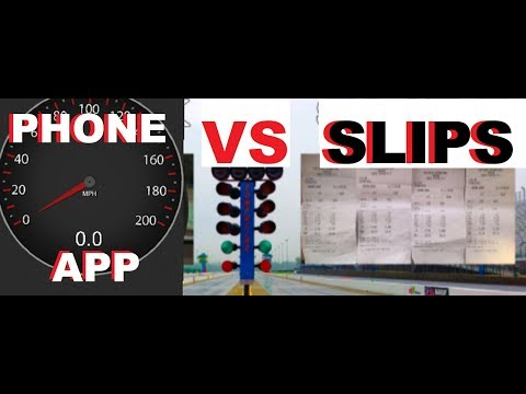 ARE 1/4 MILE PHONE APPS ACCURATE*TESTING AT TRACK (CALIBER VS.COBRA SVT)