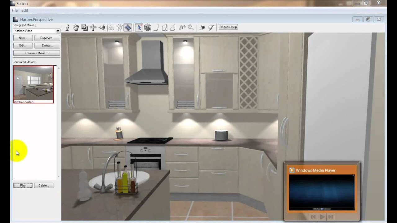 Fusion kitchen design software version 18 walk through for Kitchen designs programs