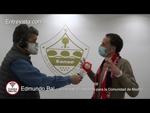 Entrevista a Edmundo Bal / candidato por Ciudadanos para la Comunidad de Madrid