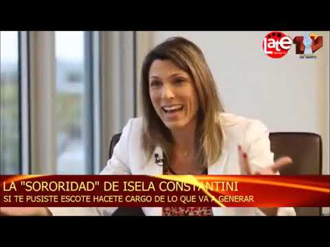 Isela Costantini: Si te pusiste el escote