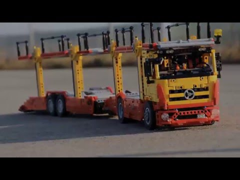 lego technic mercedes benz auto transporter youtube. Black Bedroom Furniture Sets. Home Design Ideas