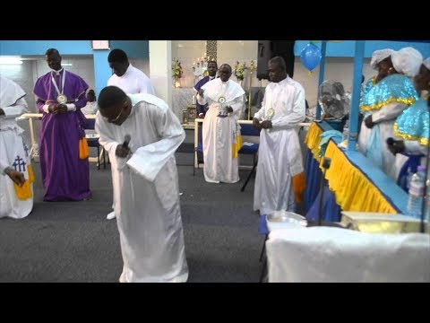Celestial Church Singing And Dancing To Olamide WO