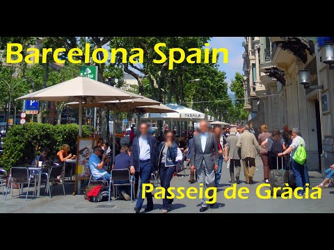 Barcelona Spain / Avenida Passeig de Gràcia (2011)