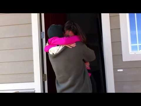 Surprising my wife after returning from deployment early