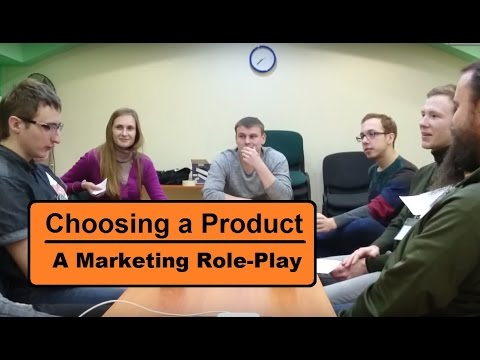 Business English role-play | Choosing a product to market