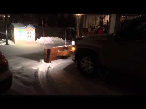 Wood snow plow
