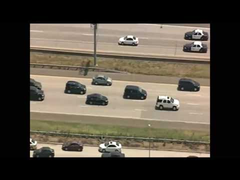 slow speed chase in Fort Worth, TX
