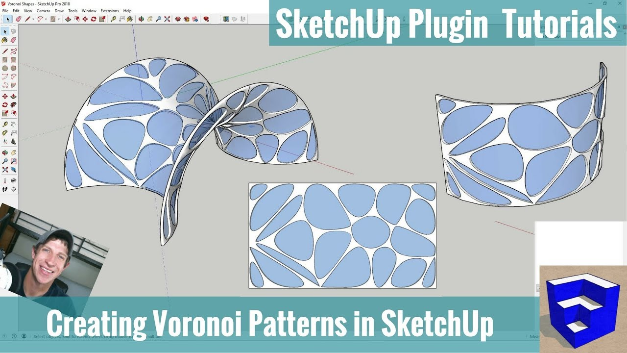 Modeling With Voronoi Patterns In Sketchup Shape Bender And Like A Good Day To Tackle Complicated Tutorial Diagrams Radial Bend
