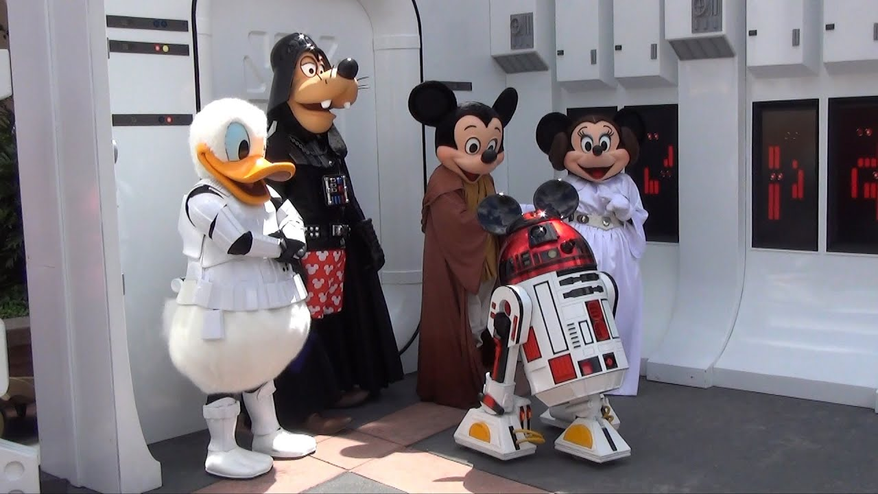 Jedi Mickey Leia Minnie R2mk Darth Goofy Amp Stormtrooper