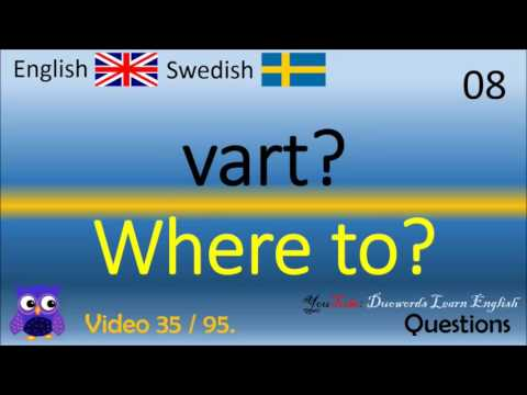 35 Questions frågor Svenska - Engelska Ord / Swedish - English Words lärande English