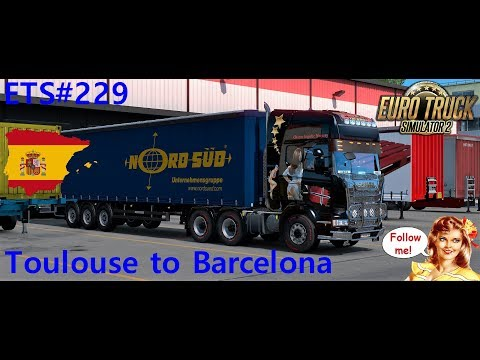 ETS#229 Transporting 22 tons of retail store equipment from Toulouse to Barcelona 596 KM
