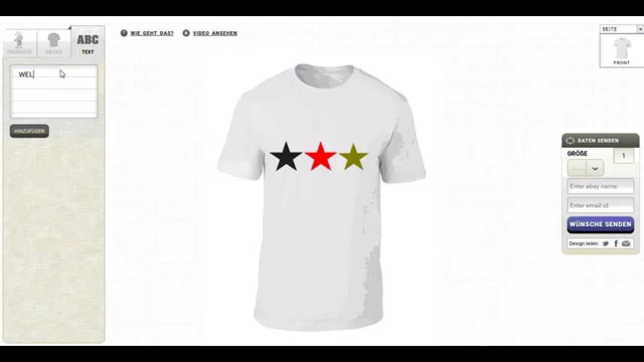 online store 5622e e194c T-shirt selbst gestalten - Anleitung - T Shirt Designer - shirts online  selber machen