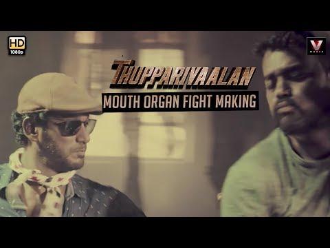 Thupparivaalan - Mouth Organ Fight Making | Vishal, Prasanna, Vinay, Anu Emmanuel, Andrea Jeremiah