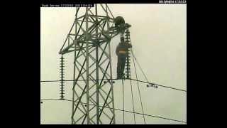 Yuqoridagi uzatish liniyalari insulators almashtirish 220 kV