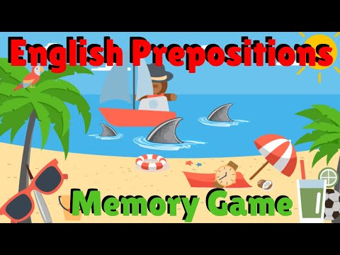 Prepositions Memory Game | ESL Classroom Games | English Prepositions
