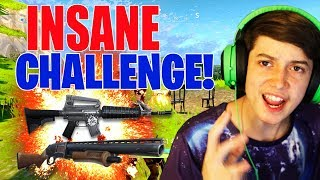 INSANE BLUE ONLY CHALLENGE -In Fortnite Battle Royale!