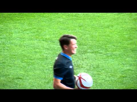 Mark Owen being adorable at Soccer Aid 2012