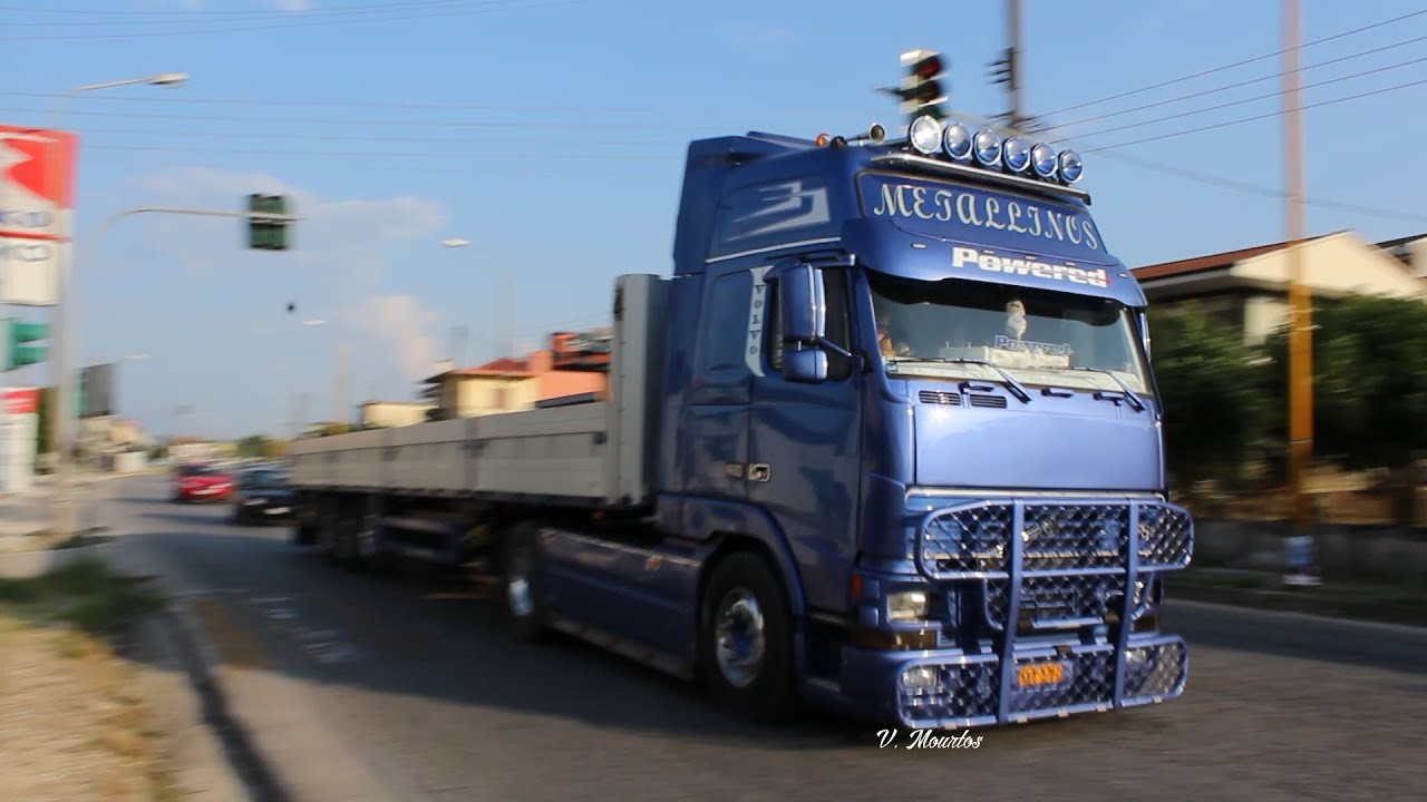 volvo fh12 460 metallinos straight pipe sound smoke. Black Bedroom Furniture Sets. Home Design Ideas