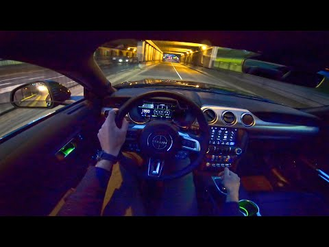2020 FORD MUSTANG BULLITT 5.0 V8 NIGHT DRIVE POV by AutoTopNL
