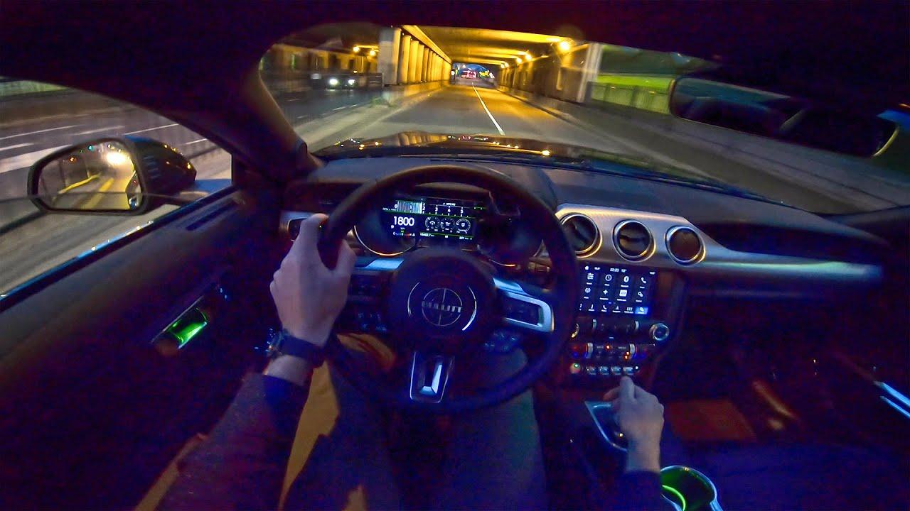 ford mustang bullitt   night drive pov  autotopnl youtube